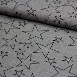 Sweatshirt Stoff BIELEFELD große und kleine Sterne