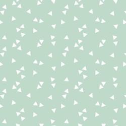 Stoff Baumwolle Triangle mint