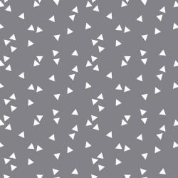Stoff Baumwolle Triangle grau