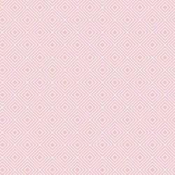 Stoff Baumwolle Rauten rosa
