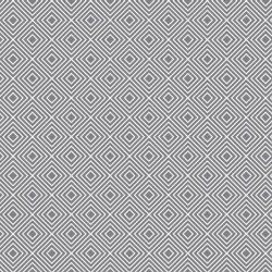 Stoff Baumwolle Rauten grau