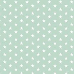 Stoff Baumwolle kleine Sterne 1cm mint