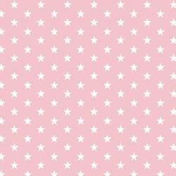 Stoff Baumwolle kleine Sterne 1cm rosa