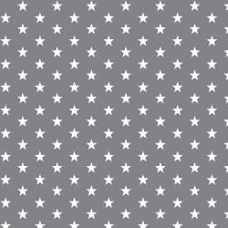 Stoff Baumwolle kleine Sterne 1cm grau