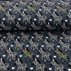 Softshell Stoff Zebra dunkelgrau