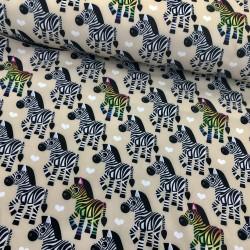 Softshell Stoff Zebra beige