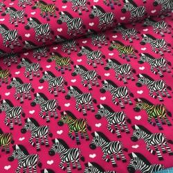 Softshell Stoff Zebra pink