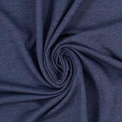 Stoff Denimjersey Austin jeansoptik dunkelblau meliert