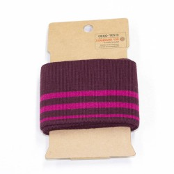 Cuff Retro Stripes College Bündchen beere pink