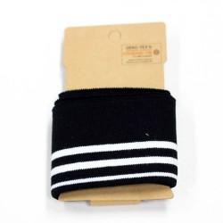 Cuff Retro Stripes College Bündchen schwarz weiß