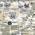 Baumwollstoff Timeless Treasure Route 66 Map Natural