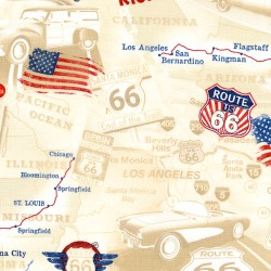 Baumwollstoff Timeless Treasure Route 66 Map Road