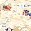 Baumwollstoff Timeless Treasure Route 66 Map Road