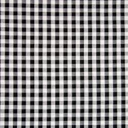 Seersucker Karo 10mm schwarz weiß