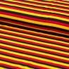 Baumwolljersey Fußball Deutschland Flagge / Streifen 1cm