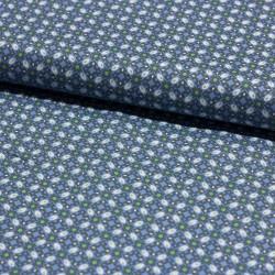 Stoff Baumwolle Klaranähta Ornamente blau grün