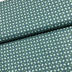 Stoff Baumwolle Klaranähta Ornamente grün blau