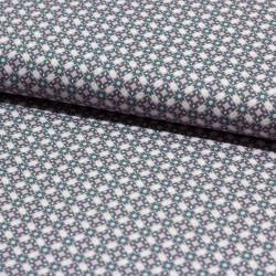 Stoff Baumwolle Klaranähta Ornamente grau rosa