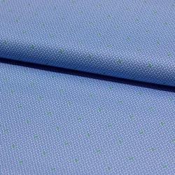 Stoff Baumwolle Klaranähta kleine Blätter blau grün