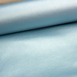 Kunstleder Lederimitat hellblau metallic