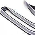 Elastic-Band gestreift schwarz grau weiß  25mm Galonstreifen