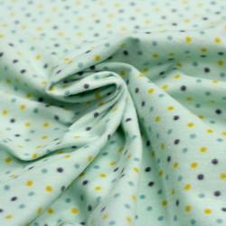 Stoff Flanell Sweat Little Dots mint