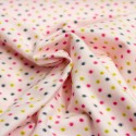 Stoff Flanell Sweat Little Dots rosa