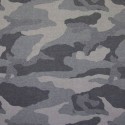 Stoff French Terry CAMOUFLAGE grau