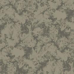 Stoff Softshell Winterblätter khaki