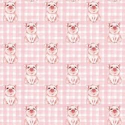 Stoff Baumwolle Popeline Schwein Schweinchen rosa