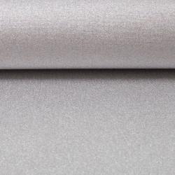 Stoff Baumwolle beschichtet Mikesh metallic silber grau