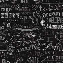Baumwollstoff Timeless Treasure Chalkboard Words