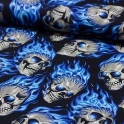 Baumwollstoff Nicoles Prints Hotheands blaue Flammen Alexander Henry
