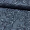 Baumwollstoff Nicoles Prints Mist + Bone Skull rauchblau Alexander Henry