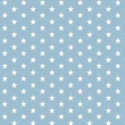 Stoff Baumwolle kleine Sterne 1cm hellblau