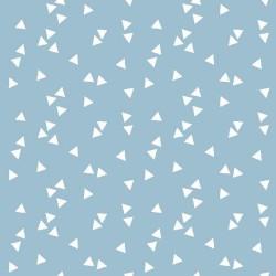 Stoff Baumwolle Triangle hellblau