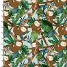 Baumwollstoff Restful Sloths Faultiere Dschungel