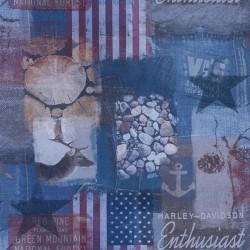 Dekostoff Stoff Digital American Forest Enthusiast Jeans USA