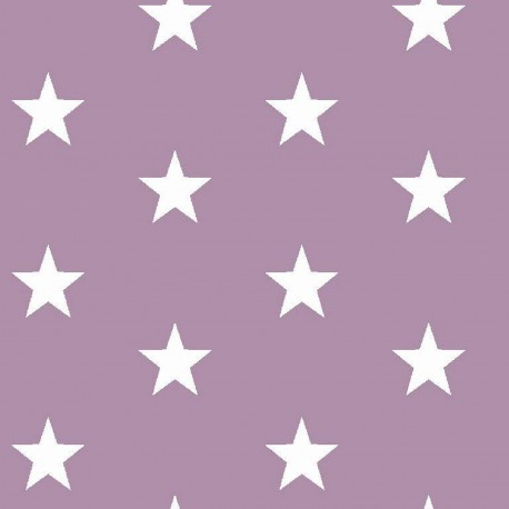 Stoff Baumwolle große Sterne 2,5cm flieder