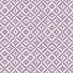 Stoff Baumwolle Rauten flieder