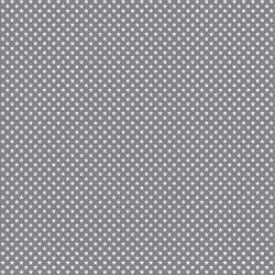 Stoff Baumwolle Mini Sterne 0,3cm grau