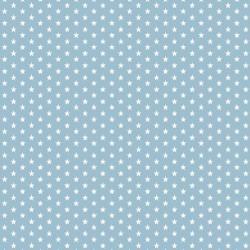 Stoff Baumwolle Mini Sterne 0,3cm hellblau