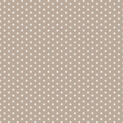 Stoff Baumwolle Mini Sterne 0,3cm sand