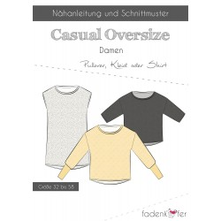PAPIERSCHNITTMUSTER CASUAL OVERSIZE PULLOVER