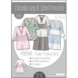 Boho-Kleid Nelina Damen - DIN A 0 Schnittmuster und Anleitung als Broschüre