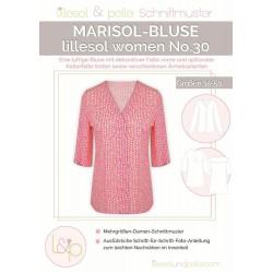 Schnittmuster Papierschnittmuster lillesol women No.30 Marisol-Bluse