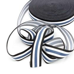 Elastic-Band gestreift 30mm stahl blau