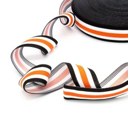 Elastic-Band gestreift 30mm orange