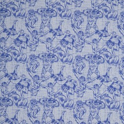 Stoff Sweat French Terry Monkeys by Cherry Picking blau
