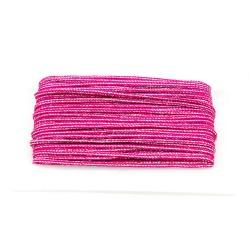 Flechtkordel Glitzer 5mm pink
